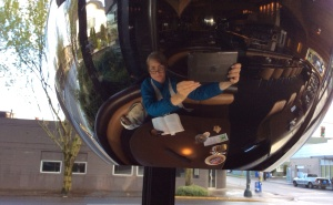 """The restaurant at Jupiter Hotel provided a """"selfie"""" option I was willing to take."""