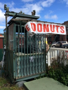 This super cool little donut place was not yet open but was positioned on the main drag downtown. Bonnie said she couldn't wait for it to open. Is this a cable car? Whatever it is, I would buy doughnuts there just to be able able to enjoy the quirky, pocket-sized store.