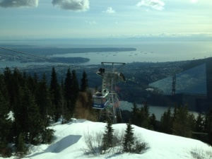 Cable car to Grouse Mountain.