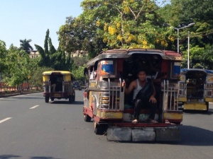 Manila is packed with Jeepneys! They are open air buses that are inexpensive to ride. They are also the most colorful, expressive things I saw in Manila.